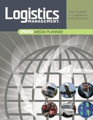 2010 MEDIA PLANNER - Logistics Management