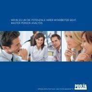 master person analysis - Poolia