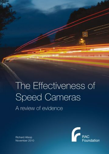 The Effectiveness of Speed Cameras - RAC Foundation