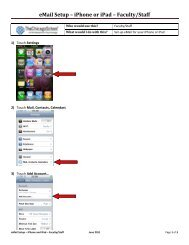 eMail Setup – iPhone or iPad – Faculty/Staff