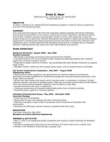 View Resume Steven Andrews Engineering