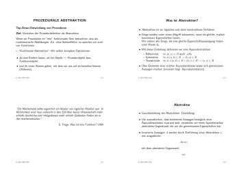 PROZEDURALE ABSTRAKTION Was ist Abstraktion? Abstraktor