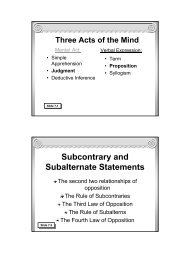 Traditional Logic I Chapter VII - Memoria Press