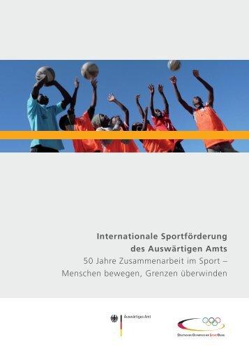 Internationale Sportförderung des Auswärtigen ... - Auswärtiges Amt
