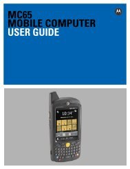 MC65 User Guide [English] (P/N 72E-133769-01 Rev. B)