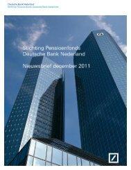Extra Nieuwsbrief december 2011 - Deutsche Bank