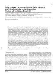 Fully coupled thermomechanical finite element ... - Clemson University