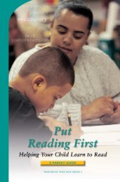Putting Reading First: Helping Your Child Learn to Read - Center on ...
