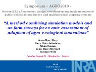 """A method combining simulation models and on farm surveys for ex ..."