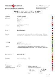 VKF Brandschutzanwendung Nr. 22755 - Wicona.ch