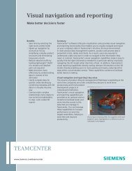 Teamcenter VIsual Navigation and Reporting Fact Sheet - Maya HTT