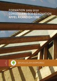 formation 2009-2010 conseillers éco-rénovation appel à candidature