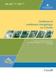Améliorer le rendement énergétique au Canada - L'Office de l ...