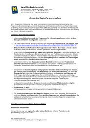 Comenius Regio-Partnerschaften - EU-Förderungen