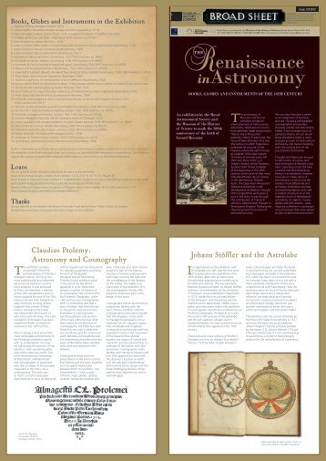 Broad Sheet: PDF download - Museum of the History of Science