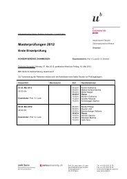 Masterprüfungen 2012 - zahnmedizinische kliniken zmk bern