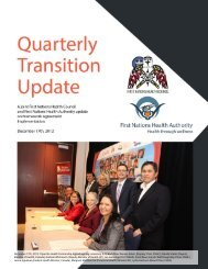 Transition Update December.pdf - First Nations Health Council