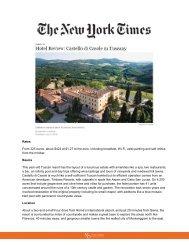 The New York Times Online - Castello di Casole