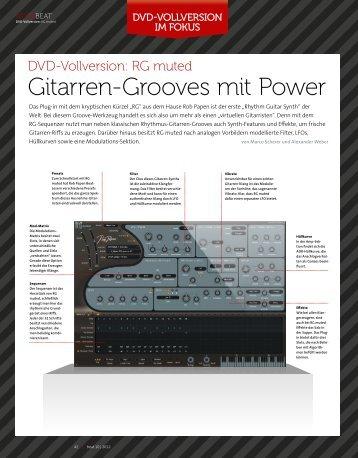 rG muted - Gitarren-Grooves mit Power - BEAT 10 ... - marco scherer