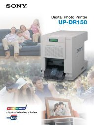 Brochure Sony UP-DR150