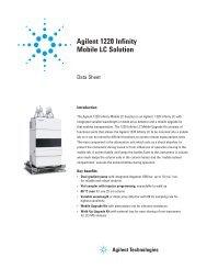 Agilent 1220 Infinity Mobile LC Solution - K'(Prime) Technologies