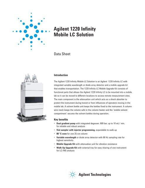 Agilent 1220 Infinity Mobile LC Solution - K'(Prime