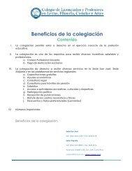 Beneficios de la colegiación - Colypro