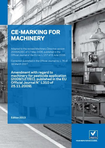 CE-MARKING FOR MACHINERY - Vinçotte