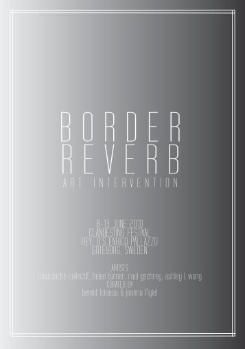 Border Reverb flyer - Projects