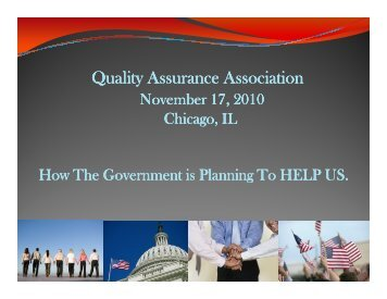 How The Government is Planning To HELP US - Quality Assurance ...