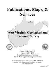 Publications, Maps, & Services West Virginia Geological and ...