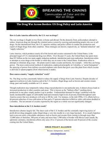 The Drug War Across Borders - Drug Policy Alliance