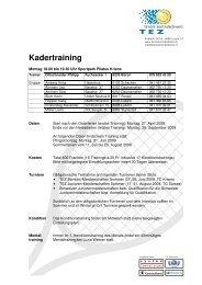 Kadertraining - Tennis Zentralschweiz