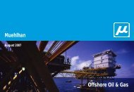 Offshore presentation - Oil and Gas - Muehlhan
