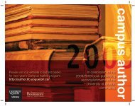 In celebration of the 2008/2009 book publishing accomplishments of ...