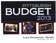 2013 Projected Revenues - City of Pittsburgh