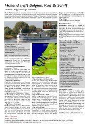 Holland trifft Belgien, Rad & Schiff - RadelReisen WILKE TOURISTIK