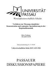 s - Wirtschaftswissenschaftliche Fakultät - Universität Passau