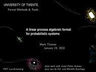 A linear process algebraic format for probabilistic systems
