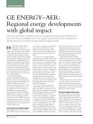 Regional energy developments with global impact - Frank Farnel