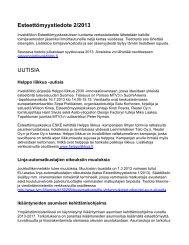 Esteettömyystiedote 2/2013 UUTISIA - Invalidiliitto ry