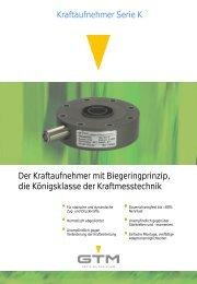 Kraftaufnehmer Serie K Der Kraftaufnehmer mit ... - GTM GmbH