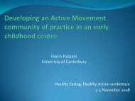 Developing an Active Movement community of practice in an early ...