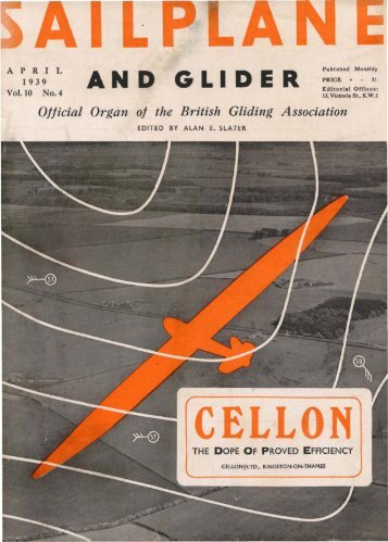 Volume 10 No. 4 Apr 1939 - Lakes Gliding Club