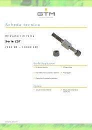 Scheda tecnica Serie ZST - GTM GmbH