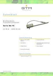 Datenblatt Serie Dm-TS - GTM GmbH