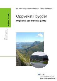 Oppvekst i bygder rapport 2012 - Sør-Trøndelag fylkeskommune