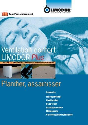 Ventilation confort LIMODOR-Plus Planifier, assainisser - Trivent AG