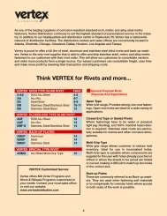 Think VERTEX for Rivets and more... - Electronic Fasteners Inc