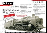 Blatt Spur 1 BR 39 - Kiss Modellbahnen